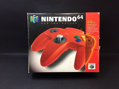 Nintendo 64 Boxed Red Controller - Genuine N64 Tight Toggle (Original Box) - VGC