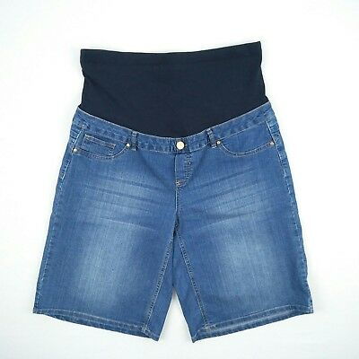 CROSSROADS - Blue Stretch Denim Maternity Shorts Women's Size 16 W38