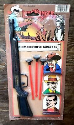 Vintage New The Lone Ranger & Tonto Toy Set #1 Peacemaker Rifle Target Figure