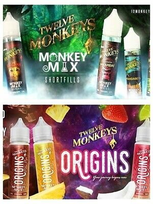 12 Monkeys / E Liquid Origins Shake & Vape Mit Nikotinshots / Twelve Monkeys