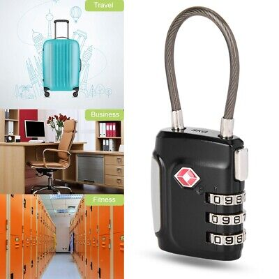 3/4Pairs Password TSA Steel Wirerope Code Lock Customs Suitcase Luggage Padlock