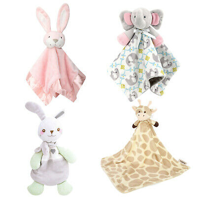 Zooawa Baby Toddles Security Blanket, Soft Stuffed Animal Plush Soothing Toy