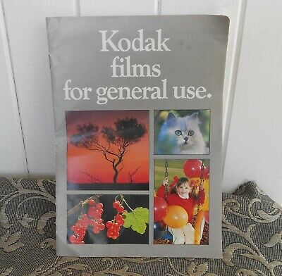Vintage Kodak Films for General Use Booklet C1985