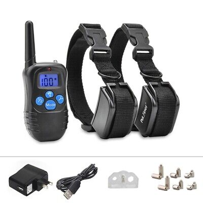100LV 300M Electric LCD Remote Dog Rechargeable Shock Training Collar E-Collar