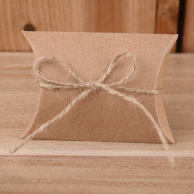 Wedding Candy Box Gift Boxes Paper Kraft Pillow Shape Bag Event Party Favor