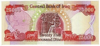 Central Bank of Iraq 25,000 Dinar Authentic Banknote Foreign Currency Pick #96