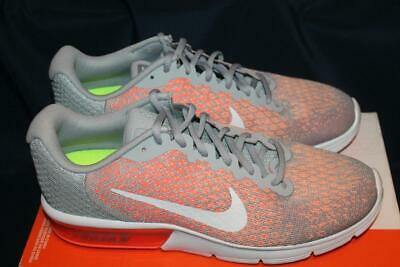 buy popular 2d73c 40fed New Womens Nike Air Max Sequent 2 852465-005 Grey Orange Size 11