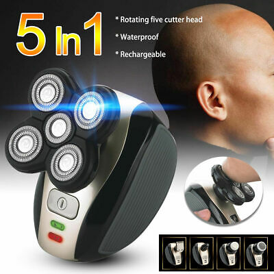 5 in1 Men Bald Head Shaver Electric Beard Razor Cordless Hair Grooming Trimmer