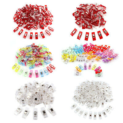 100/50 pcs Pince Plastique à Fixation Couture clip rouge transparent multicolore