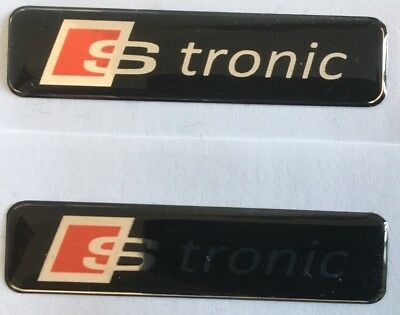 AUDI S TRONIC BADGES X2 Dashboard Boot Wings S3 S4 S5 RS3