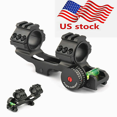 "Tactical PEPR Dual 30mm/1"" Cantilever Rifle Scope Rings Picatiiny Rail Mount New"