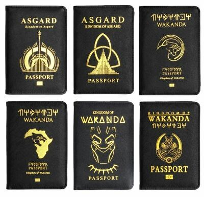 Passport Cover Wakanda Black Panther Travel Credit Card Case ID Holders