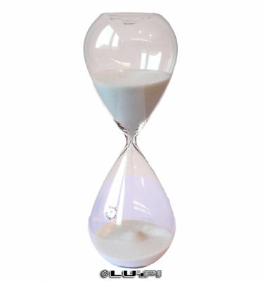 Sand Glass Hourglass Sand Timers Egg Timer 60 Minutes 1 Hour White Sand New