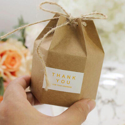 50/100 X Luxury Rustic Wedding Favour Favor Sweet Hex Cake Gift Candy Boxes