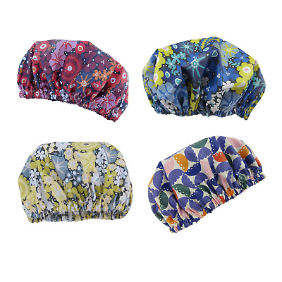 Shower Cap Women's Bath Hat luxury collection Laminated Cotton Australian Made