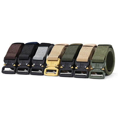 Adjustable Mens Heavy Duty Military Canvas Belts Band Tactical Utility Waistband