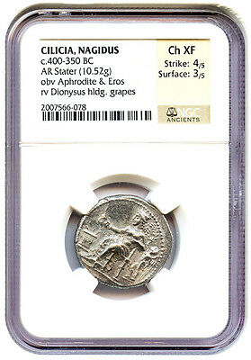 400-350 BC Cilicia AR Stater NGC Choice XF (Ancient Greek)