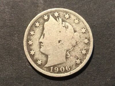 "1906 US ""Liberty Head"" Nickel. 112 years old."