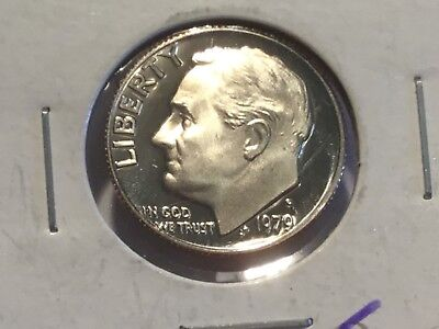 1979 'S' US Roosevelt dime. Proof coin.
