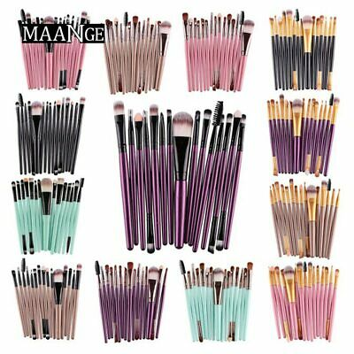 MAANGE Pro 15Pcs Makeup Brushes Set Eye Shadow Foundation Powder Eyeliner