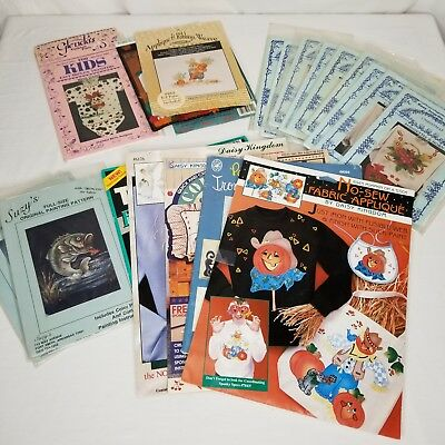 Vintage Christmas Halloween Holidays Iron On Transfers No Sew Applique Large Lot