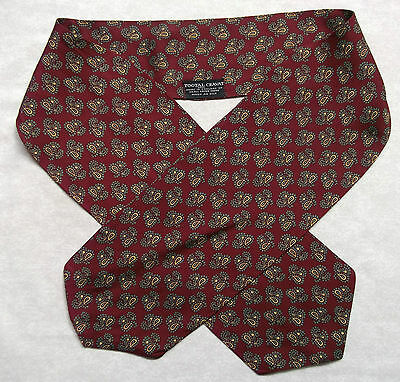 Cravat Tootal Vintage Mens 1960s 1970s MOD Retro DARK RED PAISLEY