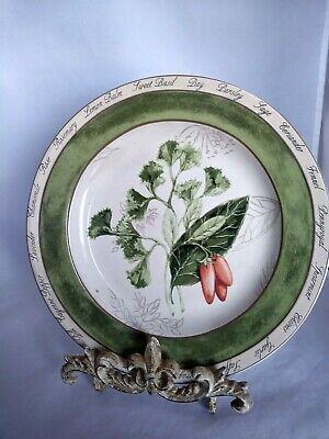 """American Atelier """" Bouquet Garni"""" Parsley and Chili 8 inch Salad Plate"""