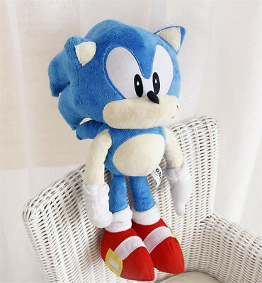 """New Sonic The Hedgehog Blue Sonic Jazwares Large 17"""" Stuffed Plush Toy Doll"""