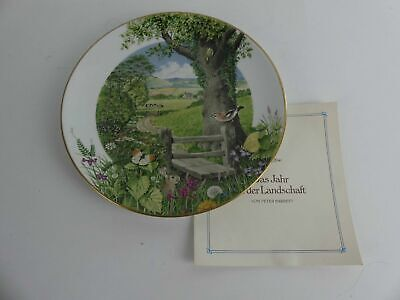 "FRANKLIN MINT Sammelteller Zierteller ""A Country Path in May"" by Peter Barrett"