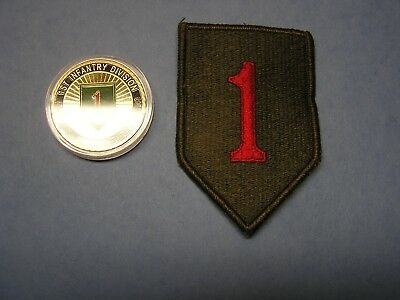 *Stocking Stuffer One New 1st Infantry Division Big Red coin And Shoulder Patch