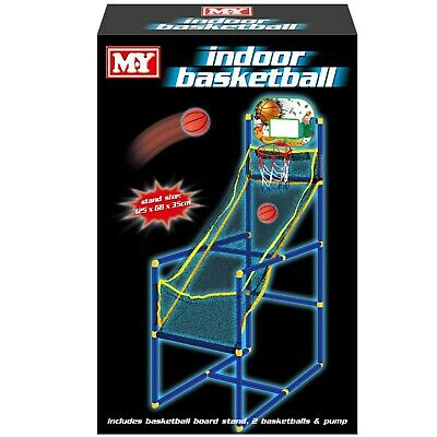 New Indoor Basketball Kids Fun Stand Activity Sports Shoot Hoop Net Throw Game