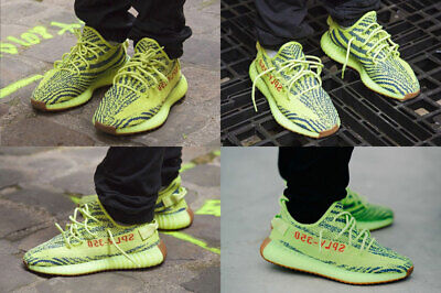 competitive price 0e0a3 02e9f MEN 8.5 ADIDAS Yeezy Boost 350 V2 Green Yellow Semi Frozen B37572 Authentic