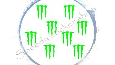 monster energy claws stickers decals x8 car van bike motorcycle rally drift cars