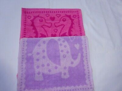 Childrens  Boys and Girls Face cloths.   Girls Patterns and Colours