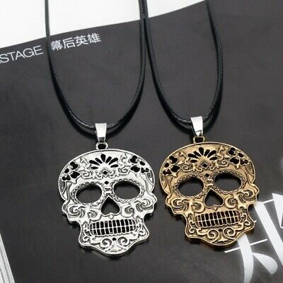 SUGAR SKULL CHIHUAHUA NECKLACE cute mexican day of the dead tattoo rockabilly