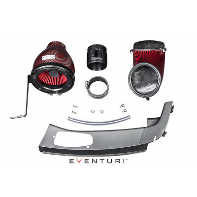 Eventuri Red Carbon Intake Airbox Lhd For Honda Civic Type R Fk2 15+
