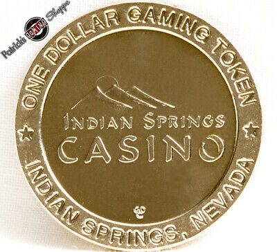 $1 Brass Slot Token Coin Indian Springs Casino 1998 Gdc Mint Nevada Gaming New