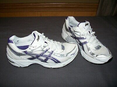 ASICS WOMENS GEL 190 Tr Running Shoes white blue size 9