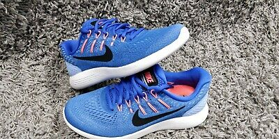 caf16a4ac4ee NIKE Womens Size 7.5 LunarGlide 8 AA8677-406 Blue Orange Running Shoes New
