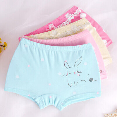 2-4-6 Pack Girls Boxer Shorts Briefs Cotton Pants Underwear Knickers age 3-12 Yr