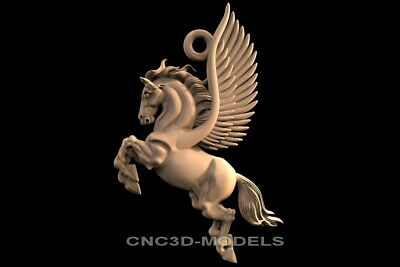 3D Model STL for CNC Router Engraver Carving Artcam Aspire Horse Horses f926