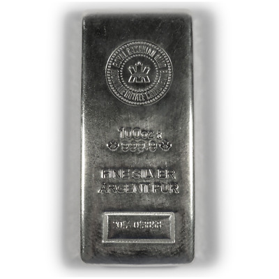 100 oz Royal Canadian Mint RCM Silver Bar .9999 Fine New