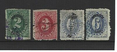 Mexico Stamps,  Scott # 146 -- 149, (1882--83), Used