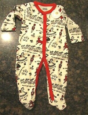1b4f7026bd NWT Mud Pie Very Merry Christmas Brushed Cotton Footed Sleeper Sz. 0-3 Mos