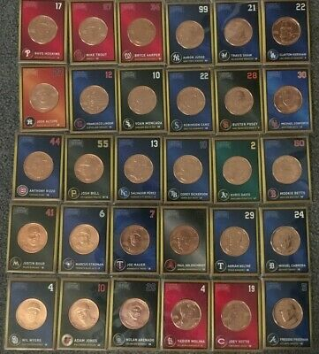 "2018 Baseball Treasure MLB Coins ""Complete Set"" of 30 coins Trout, Harper + more"