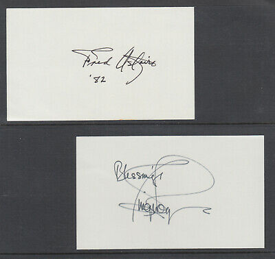 Fred Astaire & Ginger Rogers, American Actors & Dancers, signed 3x5 cards