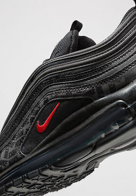 official photos cheaper excellent quality NIKE AIR MAX 97 Triple Black Red Graphic Print Og Schwarz ...