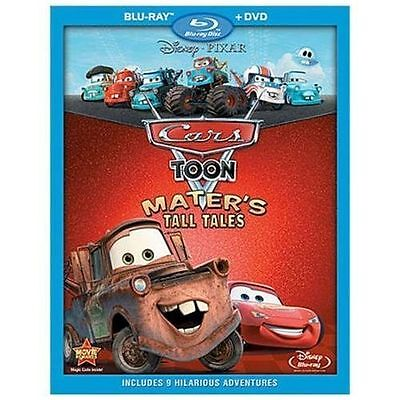 Cars Toon: Maters Tall Tales (Blu-ray/DVD, 2010, 2-Disc Set) with Slip Cover