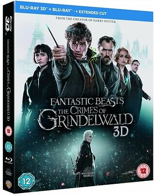 FANTASTIC BEASTS (2018) THE CRIMES OF GRINDELWALD: Harry Potter RgFre 3D+BLU-RAY