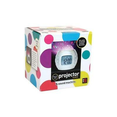 Galaxy Star Projector Clock & Light Sound Machine for Baby and kids